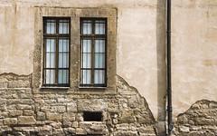 crumbling age ('ephrAim) Tags: old brick window rain stone wall germany deutschland beige nikon alt fenster pipe drain ephraim fassade d60 sondershausen