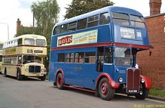 KLB596 browns blue AEC RT with 217AJF leicester city transport AEC bridgemaster (martin 65) Tags: bus buses transport road uk public london rt1347 browns blue leicester aec regent weymann klb596