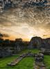Abbey Ruins at Sunset (Kev Palmer) Tags: autumn sunset england sky abbey silhouette nikon skies conservation lee staffordshire afterglow uttoxeter gbr englishheritage benbo croxdenabbey leefilters nikkor2470f28 benbotripod leendgrad threeshiresphotographers d800e nikond800e