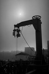 26 (thembrown) Tags: mist film docks 35mm edinburgh kodak epson v600 petri 7s bw400cn granton