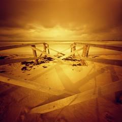xx (skarbonke) Tags: bridge 120 6x6 film analog balticsea pinhole expired analogphotography kodakportra160vc dacora redscale palangabridge