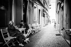 Once upon a time there were two men, sitting in a dark alley... (Giulio Magnifico) Tags: light men glass dark underground alley wine citylife streetphotography soul udine nikond800e sigma35mmf14dghsm
