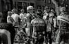 Cyclists (dtanist) Tags: street film boston analog 50mm store pentax kodak massachusetts bicyclist smc ricoh newbury bw400cn pentaxm xrm