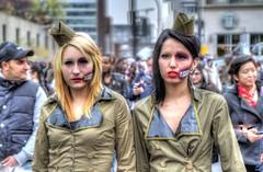 Dead air hostess. (CloudPhotoz) Tags: city portraits montral zombie walk montreal event horror maquillage hdr marche ville dguisement horreur vnement