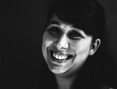 (alienmeatsack) Tags: lighting portrait blackandwhite face studio nude girlfriend kodak bronica session 13 seminude 400iso etrs dektol zenza 3minutes 75mmlens 10232013