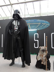 Little and Large (Nekoglyph) Tags: black museum fan starwars costume tv cleveland exhibition ewok replica figure movies cloak sciencefiction darthvader teesside invasion sith memorabilia darklord kirkleatham