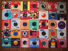 Dad's old 45s (Simon Collison) Tags: music records london liberty dad mercury columbia brunswick 45 capitol single record mgm 45s fontana sleeve epic rca singles cbs toprank sleeves parlophone motown decca pye stateside deram popex