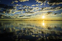 Reflects for my Reflex (mauro_332) Tags: blue sky orange sol water azul clouds landscape atardecer agua nikon paisaje reflect cielo nubes reflejo 1855 naranja vr d3100 vision:mountain=0671 vi
