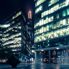 Shard between buildings (jmbillings) Tags: city london night buildings illuminated shard offices