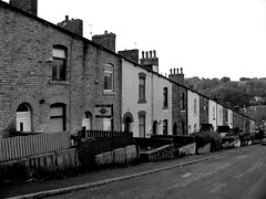 Industrial  St.  Bacup (Lawrence Peregrine-Trousers) Tags: england bw white black west monochrome britain terrace north lancashire northern pennine terraced bacup