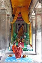 """In Prayer""  -  Angkor Wat, Cambodia (TravelsWithDan) Tags: cambodia buddha buddhist prayer angkorwat monks siemreap templecity"