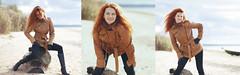 Baltic Sea shore and redheaded girl. Triptych. (DeusXFlorida (11,059,330 views) - thanks guys!) Tags: autumn red sea portrait woman girl beauty nikon triptych dune longhair baltic latvia shore redhair redheaded riga easterneurope 105mm saulkrasti nikon105mmf25 baltik d3x baltakapa nikond3x deusxflorida nikond3xnikkor105mmf25 balticseashoreandredheadedgirl