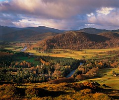 Aberdeenshire (DFDS Seaways NL) Tags: autumn trees mountain mountains heritage 2004 moody colours forestry hill royal sunny tourist hills visitor royalty autumnal atmospheric attraction moorland