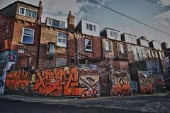 Neil Ennui, Klone Ism & Olas Art (tombomb20) Tags: street orange streetart art tooth graffiti paint december terrace tag teeth leeds neil spray ennui lettering graff klone olas headingley ism 2061 2013 tombomb20 olasart neilennui