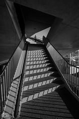 De Oversteek-stairs way up (Harm Klaverdijk) Tags: bridge architecture nijmegen brug architectuur ♣ oversteek harmklaverdijk