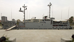 IMG_2137 USS Pueblo at Victorious Fatherland Liberation War Museum, Pyongyang, DPRK. (midendian) Tags: northkorea pyongyang dprk victoriousfatherlandliberationwarmuseum victoriouswarmuseum