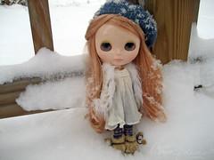wesley gets snowed on