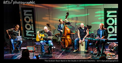 The Graham Noon Band in the Studio (Art's Eye photographic©) Tags: musicians westsussex unitedkingdom head stage guitars sunflower acoustic strings banners keyboards performers guitarists horsham amps doublebass percussionist mikestands kahon oldtophat cajondrum