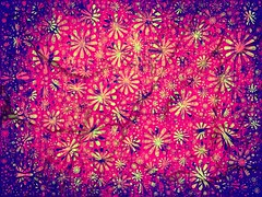 Everything New Is Old Again (Ba®ky) Tags: flowers abstract flower color texture colors yellow japan weird paint pattern jesus fake surreal repetition psychedelic wacky iphone barky 芸術 سكس wowiekazowie iphoneography ba®ky barkyvision