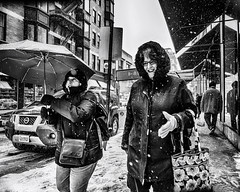 Philadelphia, 2014 (Alan Barr) Tags: street people blackandwhite bw snow philadelphia monochrome mono blackwhite candid streetphotography olympus sp streetphoto omd 2014 em5