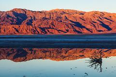 Blazing Reflection (James Marvin Phelps) Tags: park reflection art creek sunrise photography death james ngc fine salt national valley marvin hdr phelps jmp mandj98 ilobsterit vision:car=0533 vision:outdoor=0737 vision:sky=0793