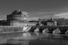 Castel Sant'Angelo (matteodesantis) Tags: trip bridge school blackandwhite rome roma castle nikon sigma monocromatic nik d90