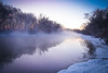 Winter river sunrise -30'C (Petr Vorobyev) Tags: winter light water sunrise canon river landscape eos ngc canoneos5dmarkii canonwater canonwinter blinkagain bestofblinkwinners canondarkness