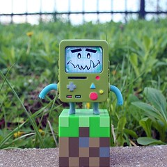nori x #bmo outdoors getting resources... (Nori Toy) Tags: cute toy nintendo videogames videogame bmo dslr urbanvinyl kaiju nori arttoy instaart instalove minecraft instagood instaartist uploaded:by=flickstagram instagram:photo=70139884729064011612987080