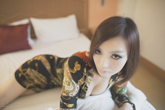 Audrey (Alphone Tea) Tags: light woman sexy colors girl beautiful lady print hotel big amazing bed eyes kiss asia pretty slim bokeh body room great young like indoor attractive 24mm facebook 6d 2014 2414 ef24mmf14liiusm atphotography