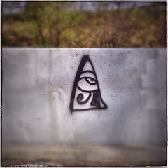 I'm Counting Cars (William Shropshire) Tags: road street copyright toronto ontario canada color colour eye apple composition square concrete photography graffiti flickr shropshire creative william photographs aviary app allrightsreserved 4s divider iphone 2014 ⓒ fotor snapseed