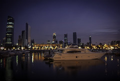 After sunset effect (Azarbhaijaan) Tags: city sunset sky water buildings landscape boat pentax kuwait baghdadi pentaxk10d azharmunir drpanga