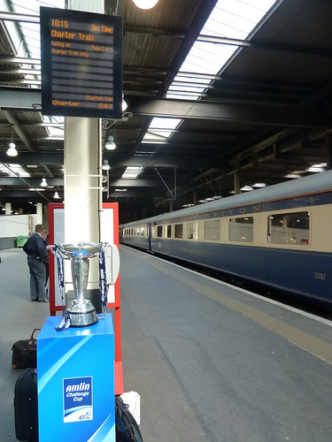 The Amlin Express - charter train to Amlin Challenge Cup