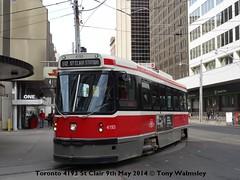 Toronto 4193 St Clair (TonyW1960) Tags: tram toronto ttc stclair 4193 strassenbahn trikk tranvia