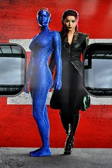 Close-up of Mystique & Blink, on the X-Men Days of Future Past Pendolino. (Raymondo166) Tags: station electric closeup set movie three fan photo lawrence sticker waiting driving open citadel no jennifer side platform first railway trains days class virgin xmen depart future motor blink past departure promotional carlisle mystique 155 bingbing departing applied 390 livery pendolino 69155 liveried dmrfo 390155
