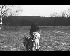 Roam (shelby gill) Tags: selfportrait motion monochrome self hair still movement wind personal fabric flowing letterbox filmstrip filmstrips flowingfabric thestorysofar