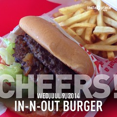 Eating at In-N-Out at LAX (sfPhotocraft) Tags: food losangeles burger fastfood fries hamburger lax innout 2014