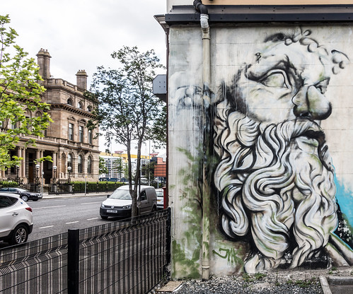STREET ART IN BELFAST CITY [CORPORATION STREET AREA ]