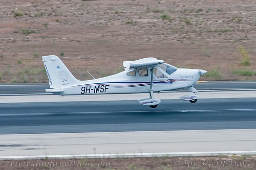 9H-MSF, Malta School of flying, Tecnam P-92-JS Echo - cn121.