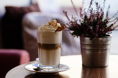 Gingerbread latte (freestocks.org) Tags: background biscuit cafe cinnamon coffee cold cookie cool cream dairy drink flower frappe gingerbread glass heather icecoffee latte macchiato mousse pillows plate pleasure pot spoon sweet table whipped
