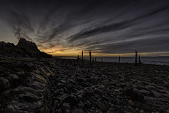 Lovely way to start the day (MarkWaidson) Tags: lindisfarne holyisland sunrise beach sea sky clouds northumberland