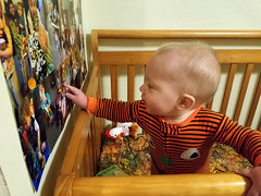 Pointing out pictures (quinn.anya) Tags: paul baby pointing pajamas crib kotd276 potd
