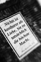 Nothing... / Rien... (baldenbe (on/off)) Tags: bw nb noirteblanc noiretblanc blackandwite bwfp nikon f90x lensbabycomposer berlin nordbahnhof bernauerstrasse berlinermauer murdeberlin berlinerwall affiiche love amour argentique