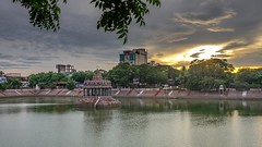 Kapalishwar Tank (rameshsar) Tags: 23mm fuji kolu mylapore xt1 temple tank sunset cpuds color nature chennai india