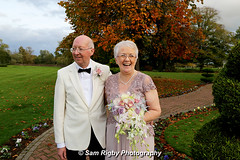 Just Married - Chris & Ken - 27th October 2016 (Sam Rigby Photo) Tags: thornton hall thorton hotel spa just married wedding day love marriage vows bride groom tux button hole bouquet autumnal autumn photography photographer north west female sam rigby