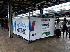 Sydney Metro - A small construction compound appears on Platforms 18 & 19 - 1 (john cowper) Tags: sydneymetro buildingcompound platform1819 centralrailwaystation sydneylightrail cselr cbdsoutheastlightrail sydneytrains nswtrainlink sydney newsouthwales