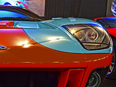 Blink (oybay) Tags: fordgt ford fastcar fast car automobile racingcar fordmotorcompany macro upclose color colors headlamp bumper orange blue lightblue powderblue colorful barrettjackson barrett jackson scottsdale arizona