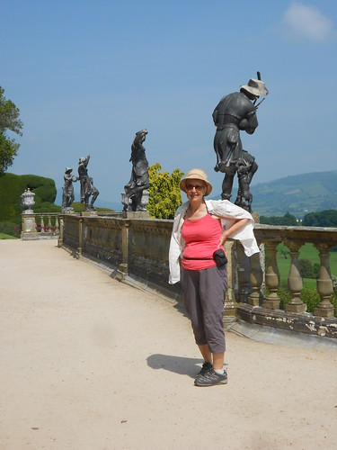 Powis Castle. Lead statues on the terrace.
