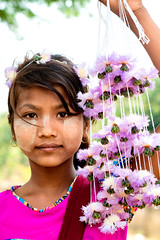 Portrait Burmese girl (Sutipond Somnam) Tags: woman face girl burma myanmar indonesia malaysia bagan female hope eye portrait mandalay southeastasia asian traditional handicraft paste need children national flowers hat travel clothes burmese culture thanaka peasant holiday casual people village poor closeup asiatic villagers