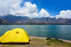 segara anak lake (sydeen) Tags: rinjani lombok lake indonesia landscape background segara mount anak nature scenic beautiful mountain blue crater water travel tourism tourist trekking eruption volcano jari sky barujari natural park asia national tent camp camping yellow baru cloud