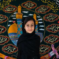 Iranian girl during Muharram in Yazd, Iran (Eric Lafforgue) Tags: ashura iran yazd shiite shia